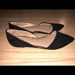 Merona Pointed Toe Black Flats Size 9.5